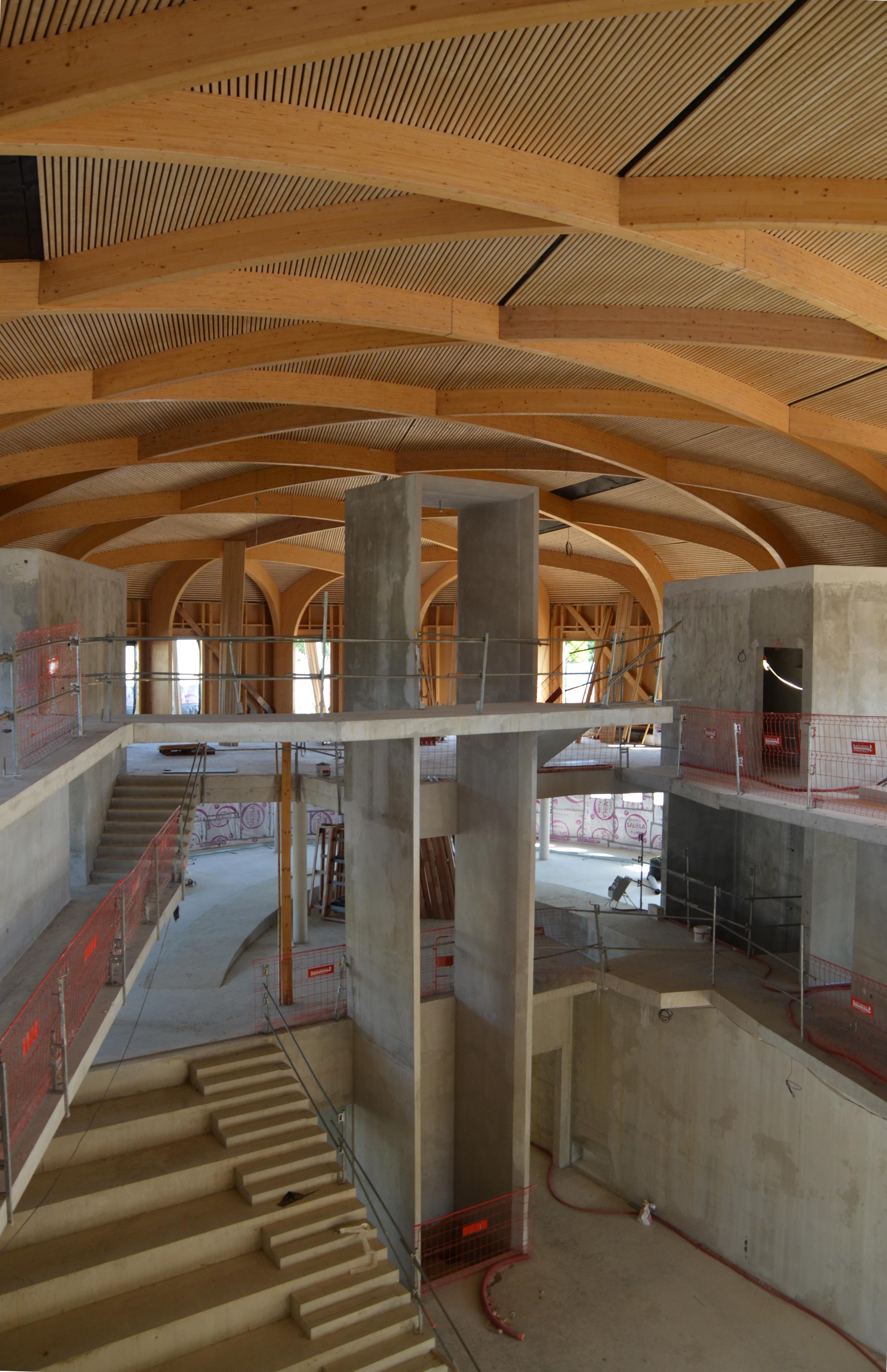 CONSTRUCTION DU HUB DE CRÉATIVITÉ À L'ECOLE DES MINES D'ALES, LE CHANTIER PROGRESSE.