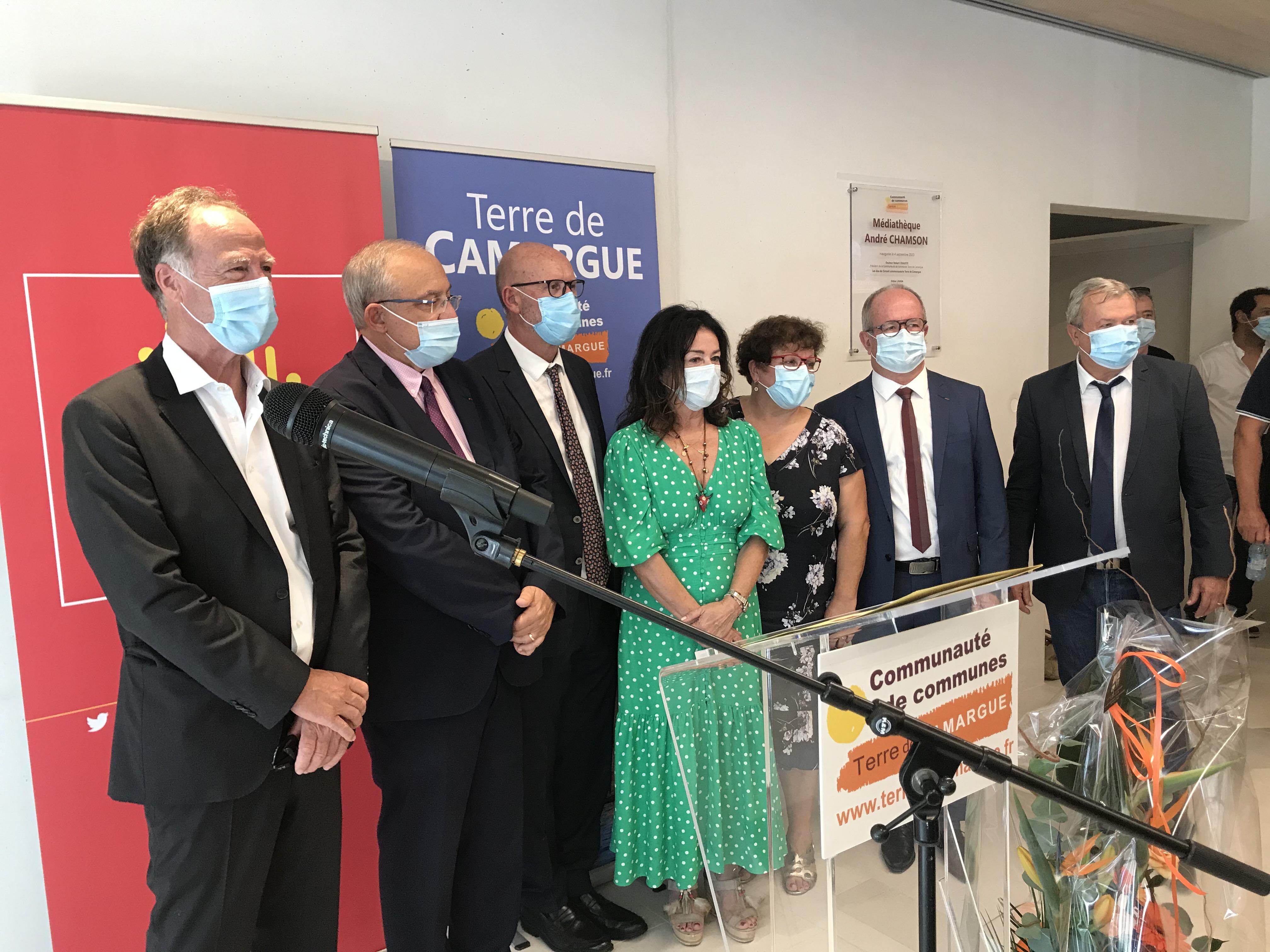 INAUGURATION DE LA MEDIATHEQUE INTERCOMMUNALE ANDRE CHAMSON A AIGUES MORTES