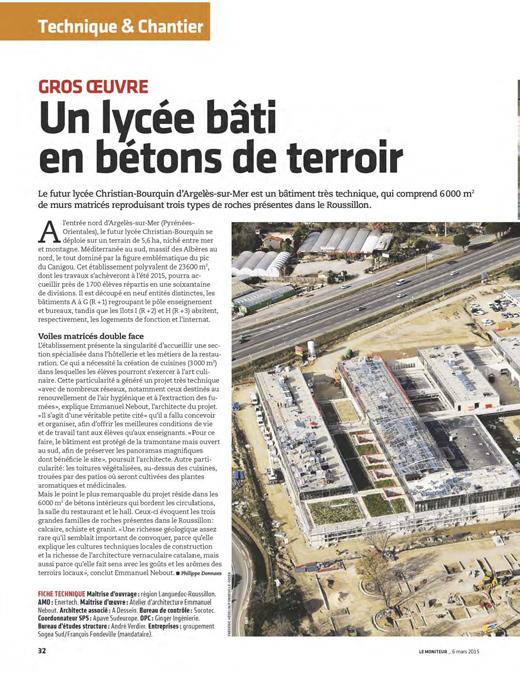 Le Moniteur - 03/2015
