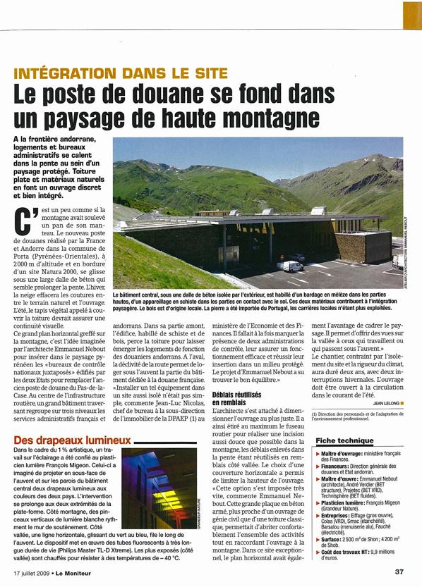 Le Moniteur - 07/2009