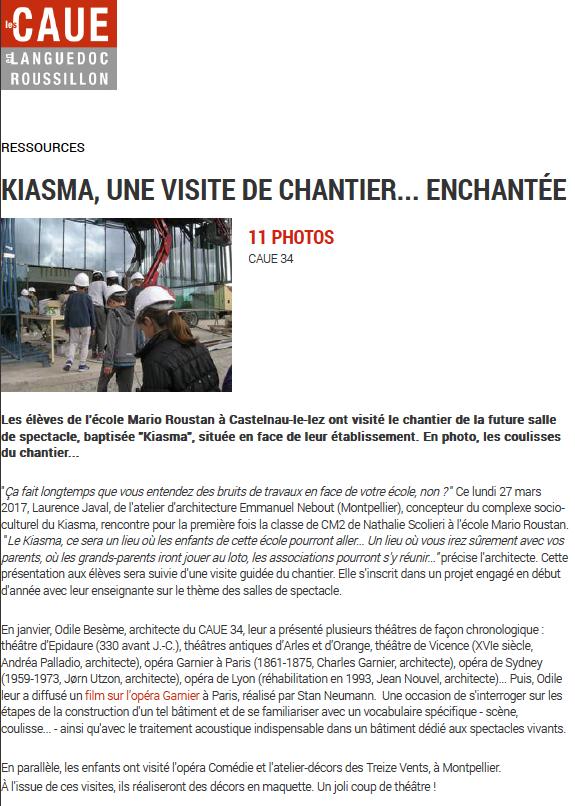 Newsletter du CAUE 34