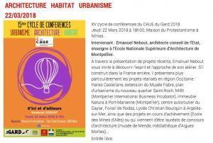 CONFERENCE D'ICI ET D'AILLEURS - CAUE 30